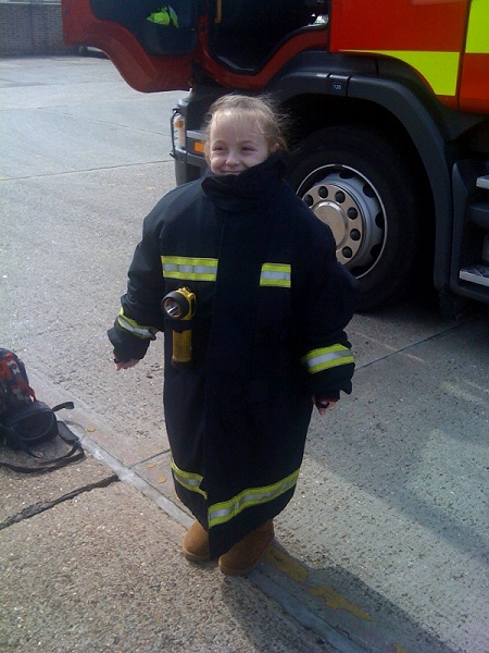 Daisy at Basildon fire station April 2011