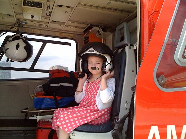 Daisy in the Whitechapel Air Ambulance
