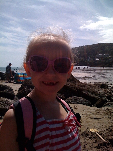 Daisy on holiday August 2010